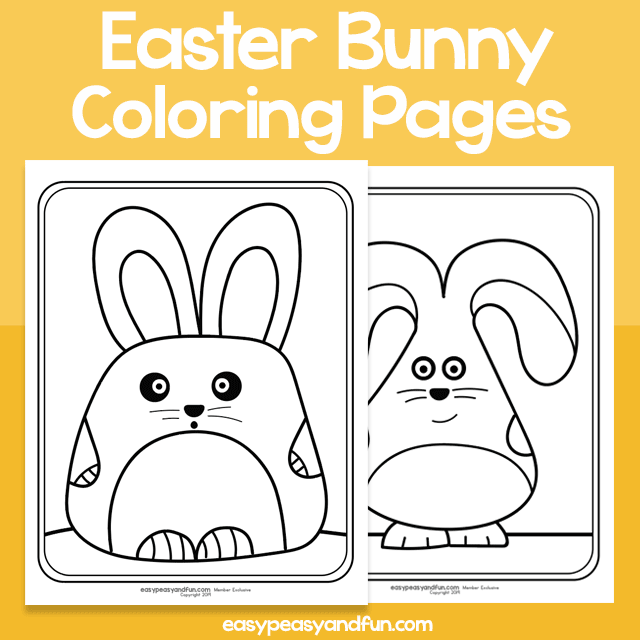 Easter Bunny Coloring Pages – Easy Peasy and Fun Membership