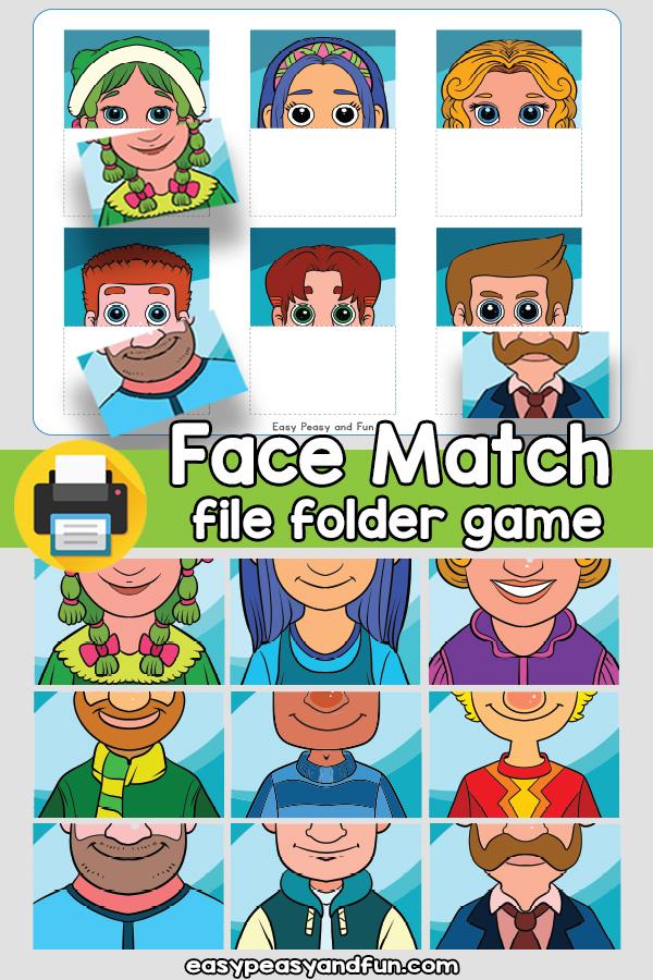 Face Matching File Folder Game