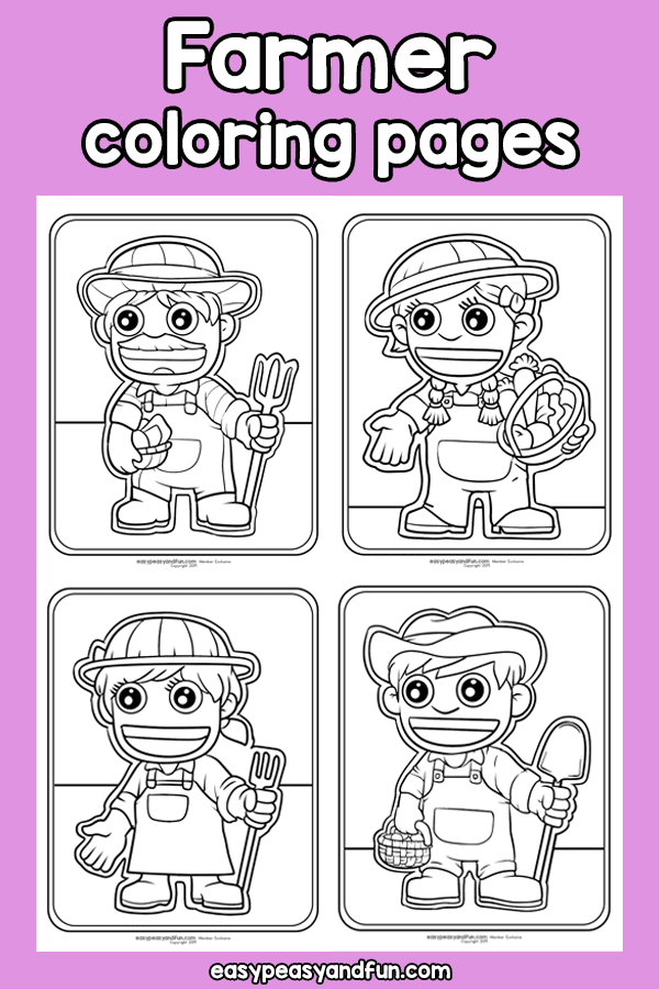 Community Workers Farmer Coloring Pages