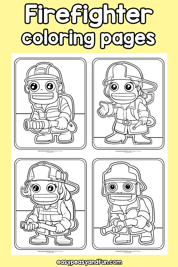Firefighter Coloring Pages Community Workers Coloring Pages