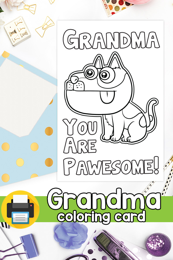 Grandma you are Pawesome Card