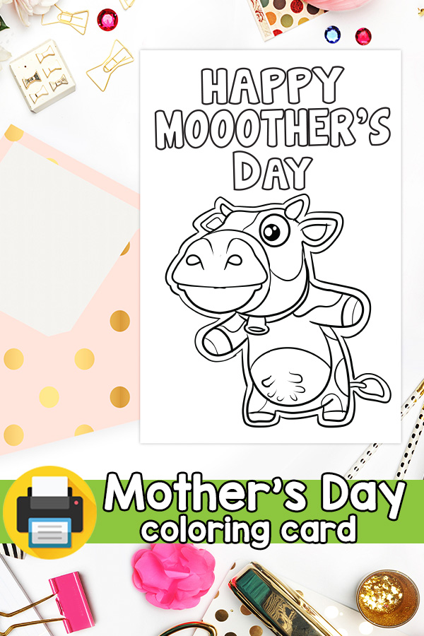 Happy Mooothers Day Card Cow