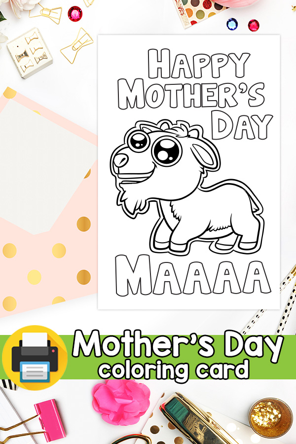 Maaa Goat Mother's Day Card