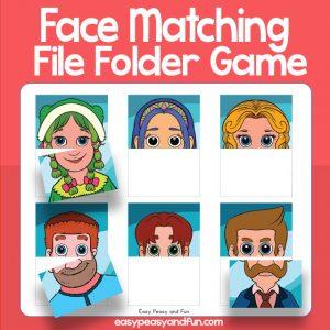 Matching Faces File Folder Game