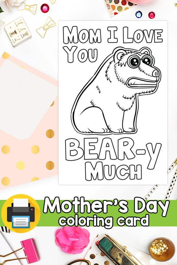 Mom I Love You Beary Much Mothers Day Card