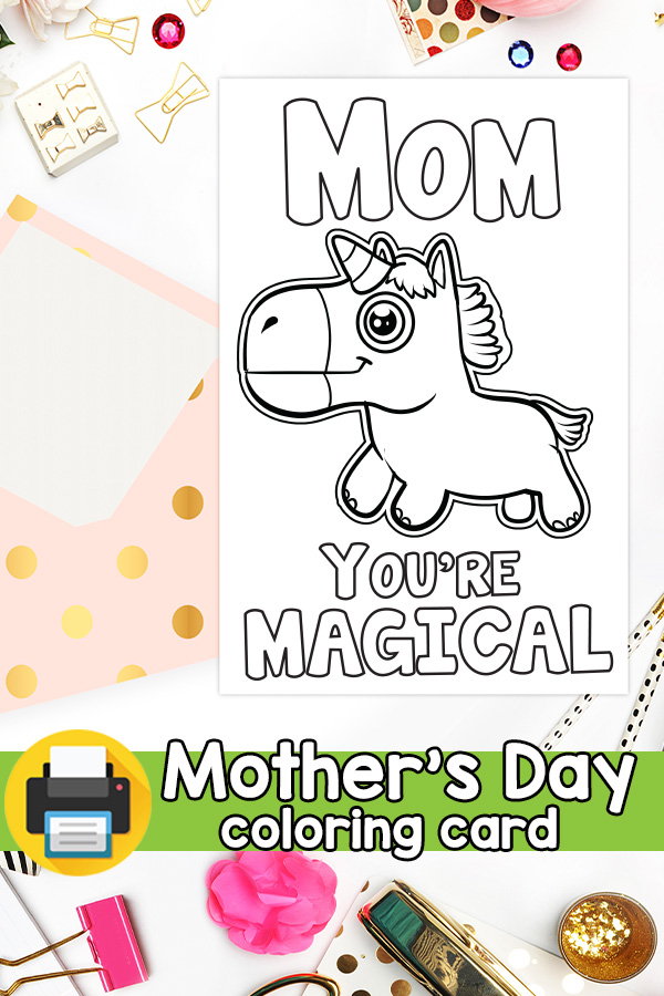 Mom You are Magical Unicorn Mothers Day Card