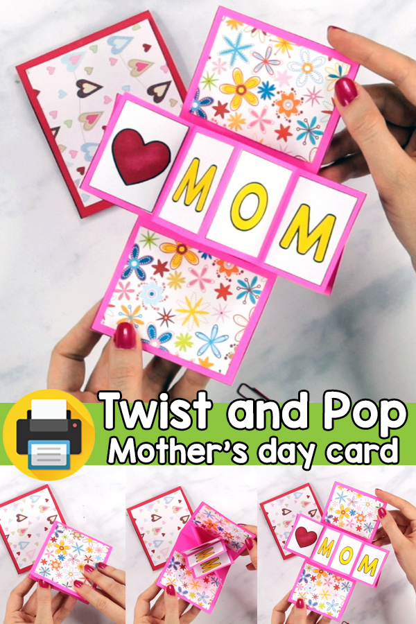 Mother's Day Twist and Pop Card Template