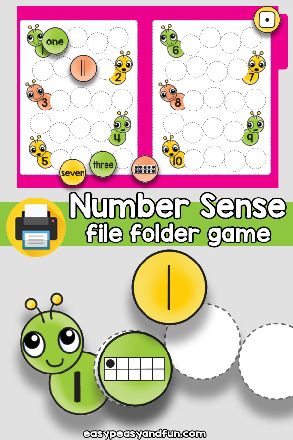 Number Sense File Folder Game
