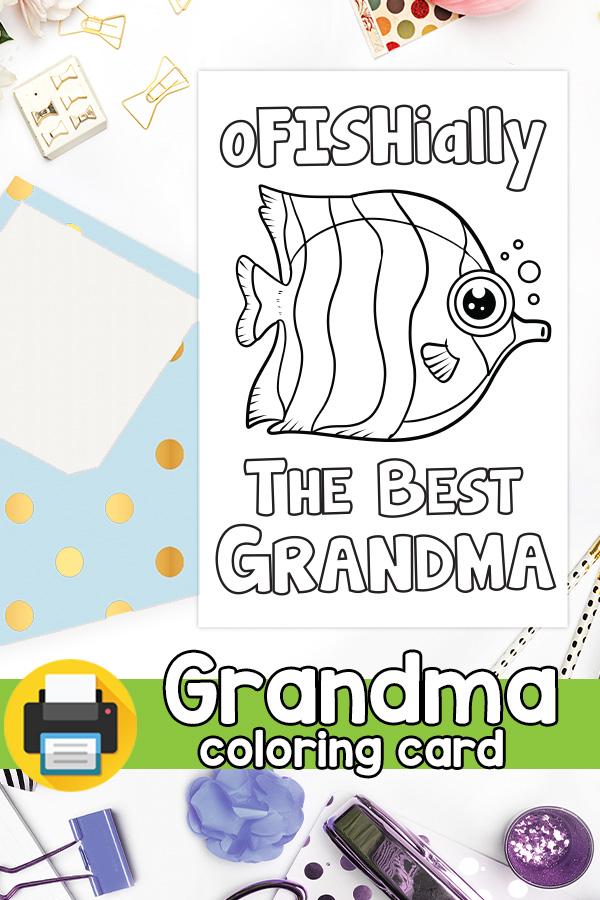 Ofishialy the best grandma card Grandparents day