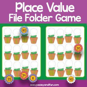 Place Value File Folder Game