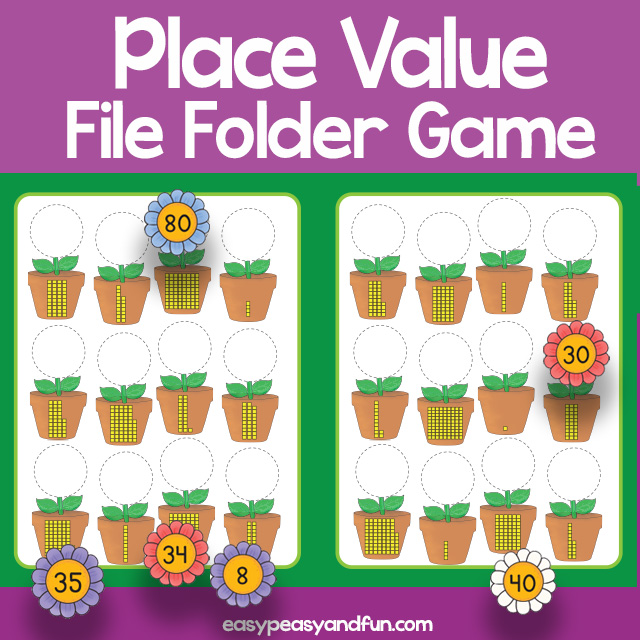 Place Value File Folder Game