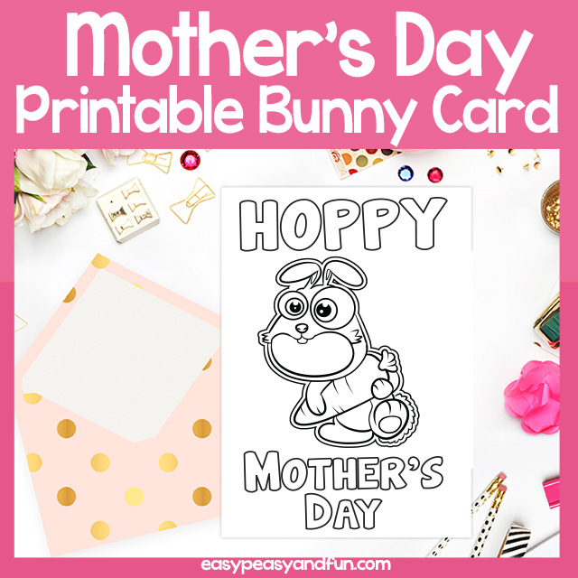 Printable Hoppy Mother's Day Card