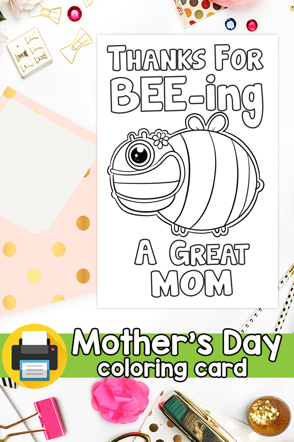Printable Thanks for Beeing a Great Mom Card