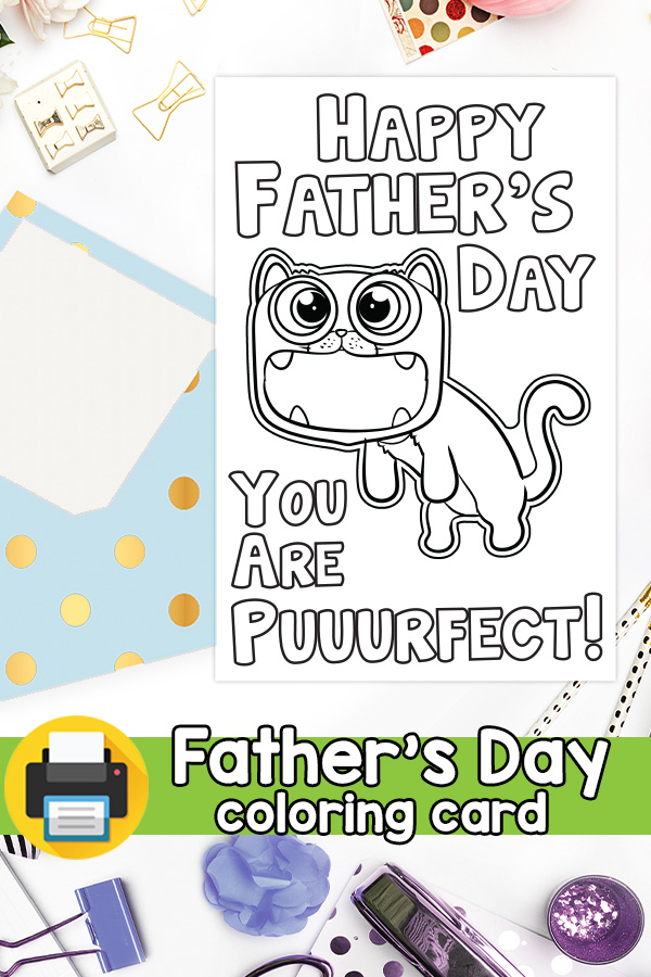 Puurfect Dad Father's Day Card Pun Card