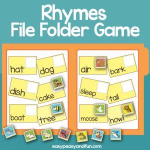 Rhymes File Folder Games