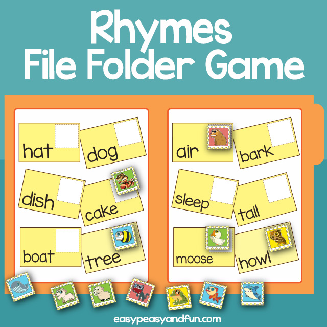 Rhymes File Folder Games