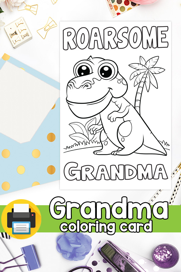 Roarsome Grandma Grandparents Day Card