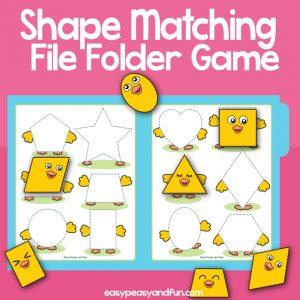 Shape Matching File Folder Game