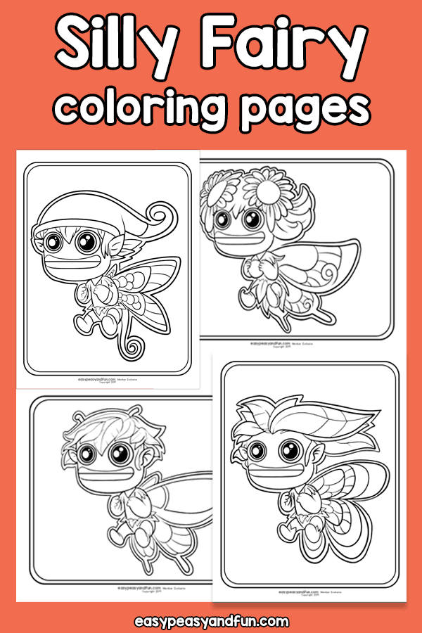 Silly Fairy Coloring Pages