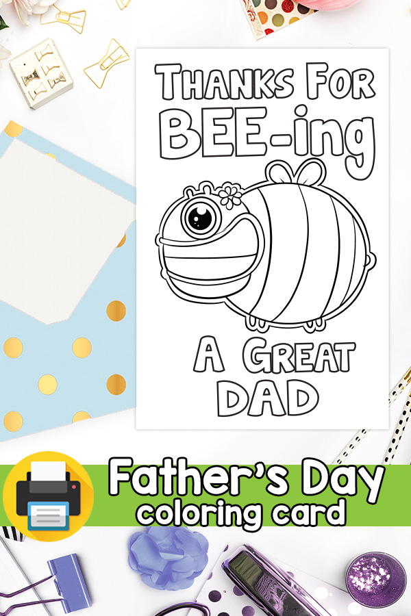 Thanks for Beeing a Great Dad Card Pun Card