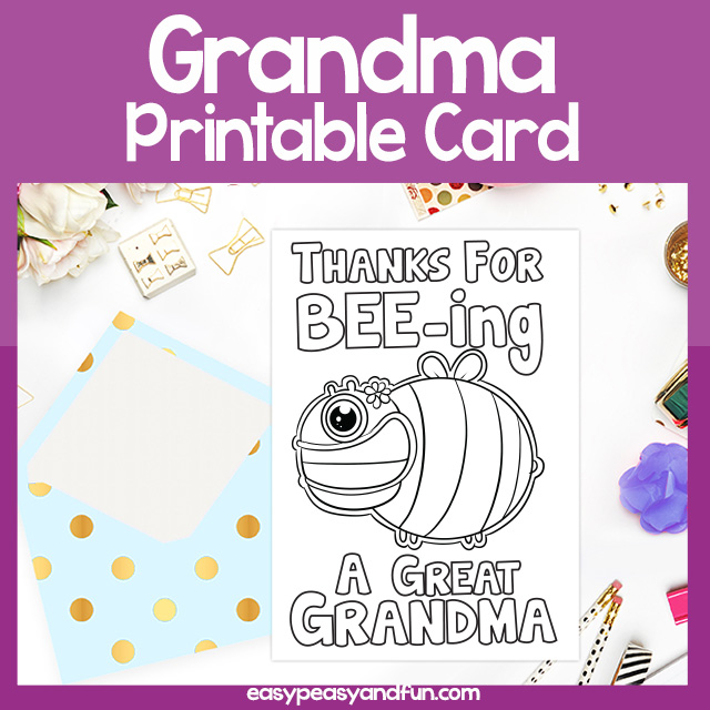 Thanks for Beeing a Great Grandma Card Grandparents Day