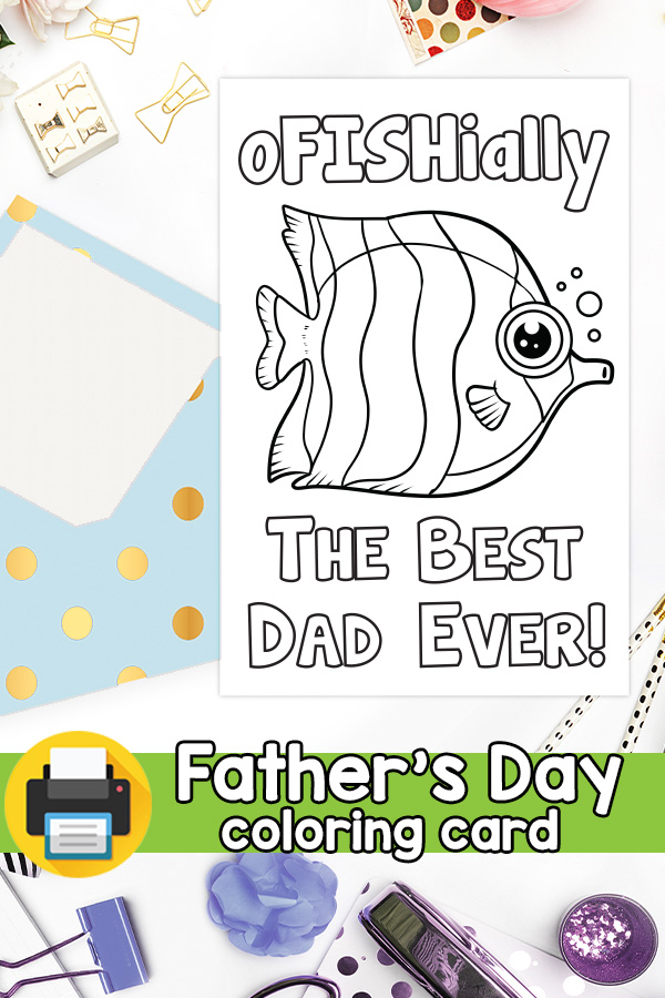 oFISHially the best dad Father's day card pun