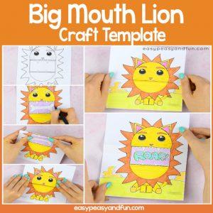 Big Mouth Lion Printable