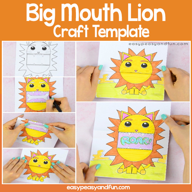 Big Mouth Lion Printable