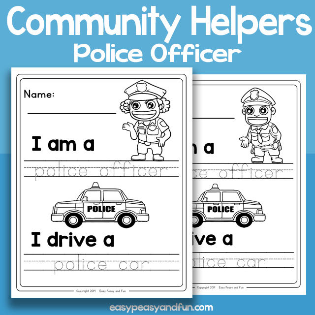 Community Workers Police Officer Worksheets – Easy Peasy and
