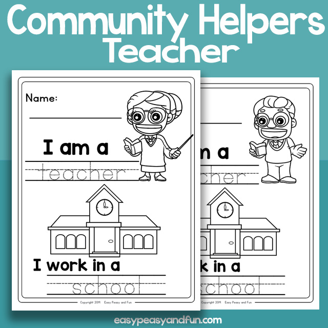 Community Workers Teacher Worksheets – Easy Peasy and Fun ...