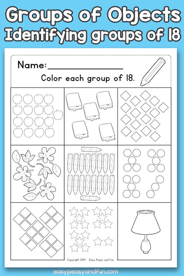 Counting Groups of Objects Worksheets Eighteen
