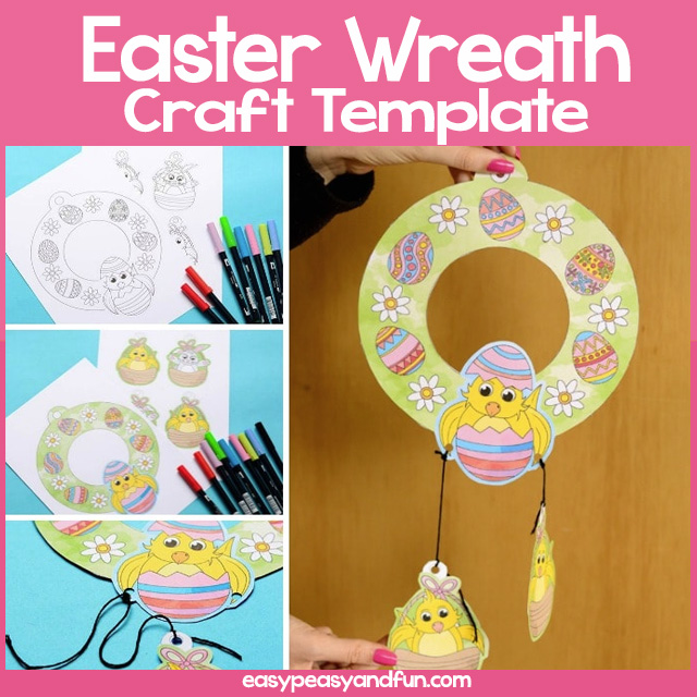 Easter Wreath Template