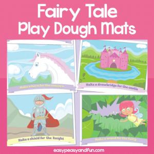 Printable Fairy Tale Playdough Mats