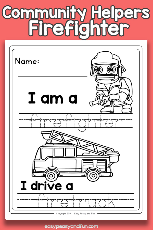 Firefighter Community Workers Worksheets