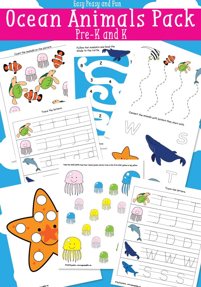 Free Ocean Animals Printables-for Preschool and Kindergarten