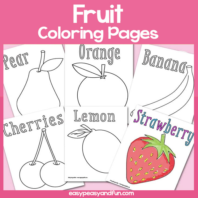Coloring Pictures Of Fruits