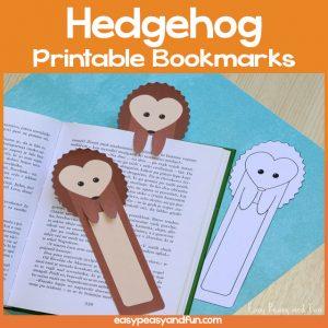 Hedgehog Printable Bookmarks
