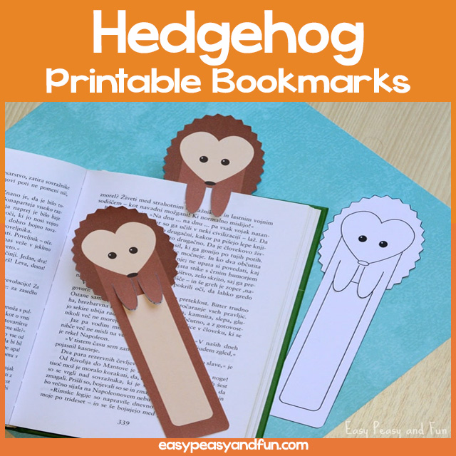 Hedgehog Printable Bookmarks