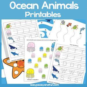 Ocean Animals Preschool Printables