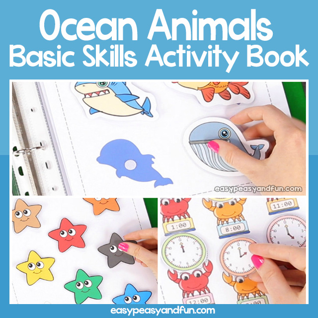 Ocean Animals Quiet Book