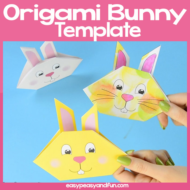 image about Printable Oragami Paper known as Origami Bunny Very simple Peasy and Enjoyment Subscription