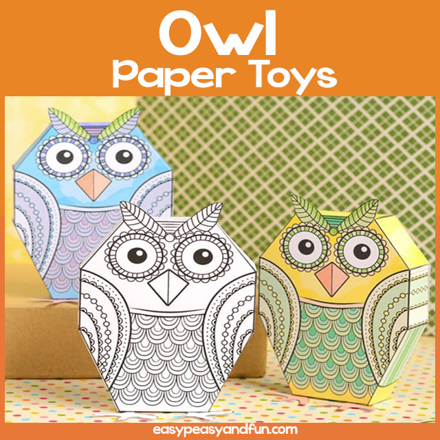 Owl Paper Toy