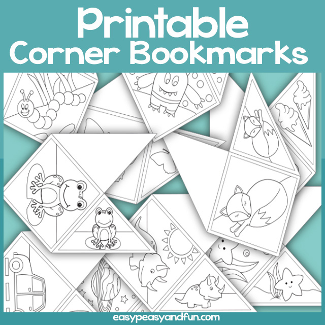 Printable Corner Bookmarks for Kids