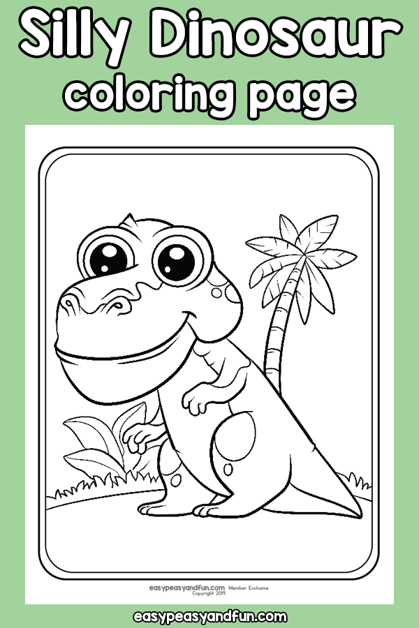 Silly Dinosaur Coloring Page