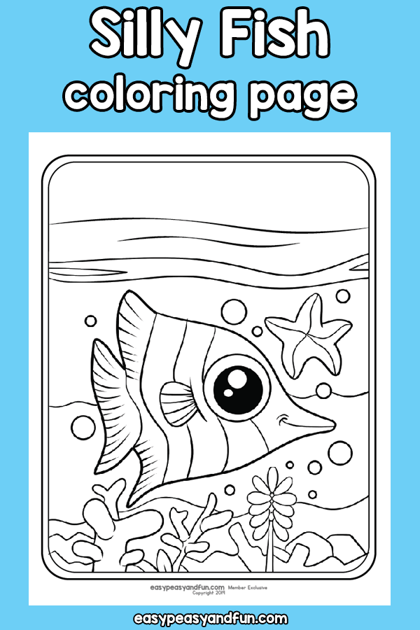 Silly Fish Coloring Page