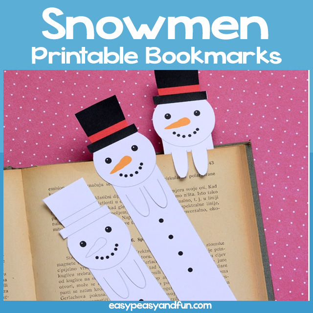 Snowmen Printable Bookmarks