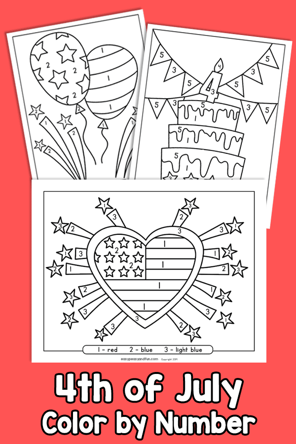 4th Of July Color By Number Worksheets – Easy Peasy And Fun Membership