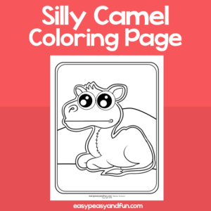 Coloring Page Silly Camel