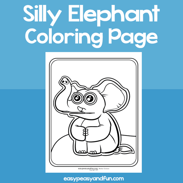 Coloring Page Silly Elephant