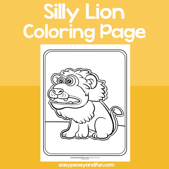 Coloring Page Silly Lion